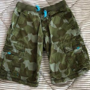 Boys camo cotton shorts